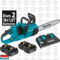 Makita XCU03PT1 18V X2 36V Cordless Chainsaw w/ 4 5ah LXT Batteries