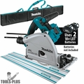 "Makita XPS01Z 18V X2 Brushless 6-1/2"" Plunge Track Saw w/2 Tracks +Track Bag"