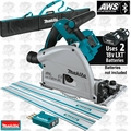 "Makita XPS02ZU 18V X2 Brushless 6-1/2"" AWS Track Saw w/2 Tracks +Track Bag"