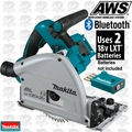 Makita XPS02ZU 18V X2 LXT Li-Ion (36V) Brushless Plunge Saw Blue Tooth AWS