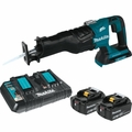 Makita XRJ06Z 18V X2 LXT Li-Ion 36V Brushless Cordless Recip Saw 2x 5.0 Kit