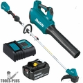Makita XT286SM1 18V LXT Li-Ion Brushless Blower/Trimmer Kit w/4Ah Battery