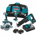 Makita XT448T 18V LXT Lithium-Ion Brushless Cordless 4-Pc. Combo Kit (5.0Ah)
