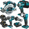 Makita XT449 4pc 18V LXT Li-Ion Brushless Cordless Combo Kit w/4 5.0ah Batts
