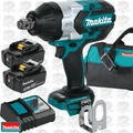 "Makita XWT07T 18V LXT Li-Ion 3/4"" Sq. Drive Impact w/Fric Ring+2 5.0Ah Batts"