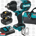 "Makita XWT08T 18V LXT Li-Ion Brushless 1/2"" Sq Drive Impact w/2 5Ah Batts"