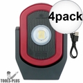 Maxxeon 00810 WorkStar Cyclops USB Rechargeable LED Magnetic Work Light 4x