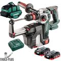 Metabo 600211900 18V Rotary Hammer HEPA Dust Collection w/2 Batts+Charger-OB