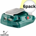 Metabo 600288000 Battery Adaptor w/ 2x USB ports + Built-In LED Light 6x