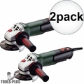 "Metabo 600410420 WP 12-115 Q 4-1/2"" 1100rpm 10.5amp angle grinder 2x"