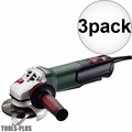 "Metabo 600410420 WP 12-115 Q 4-1/2"" 1100rpm 10.5amp angle grinder 3x"