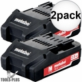 Metabo 625596000 18v 2.0ah battery pack 2x