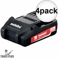 Metabo 625596000 18v 2.0ah battery pack 4x