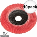 "Metabo 626488000 6"" x 7/8 P60 60 Grit Ceramic Convex Flap Disc 10x"
