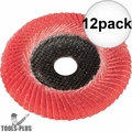 "Metabo 626488000 6"" x 7/8 P60 60 Grit Ceramic Convex Flap Disc 12x"