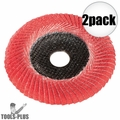"Metabo 626489000 6"" convex flap disc P80 CER 2x"
