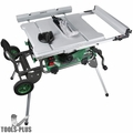 """Metabo HPT C10RJSM 15-AMP 10"""" Jobsite Table Saw w/Fold and Roll Stand"""