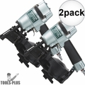"""Metabo HPT NV45AB2M 7/8"""" to 1-3/4"""" 16Deg Professional Roofing Coil Nailer 2x"""