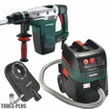 """Metabo KHE 56 1-3/4"""" SDS-max Rotary Hammer w/HEPA Vacuum + Dust Extraction"""