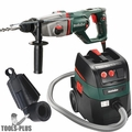"""Metabo KHE D-26 1"""" SDS Combination Rotary Hammer HEPA Vac + Dust Extraction"""