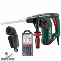 "Metabo KHE3250 1-1/4"" SDS Rotary Hammer w/ Rotostop, Dust Accessory + 5 Bits"
