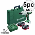 "Metabo US602198550 18V 1/2"" Impact Wrench Kit 2x 5.5Ah LiHD"