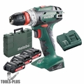 "Metabo US602217620 18V Quick 3/8"" Drill/Driver 3x 2.0Ah Batts + Charger Kit"