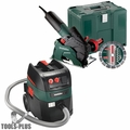 "Metabo W12-125HDCED 10.5 Amp 5"" Masonry Cutting/Scoring Grinder HEPA Pkg"