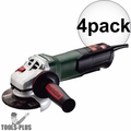 "Metabo WP9-115Q 4-1/2"" 8 AMP Angle Grinder w/ Non-Locking Paddle Switch 4x"