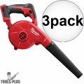 Milwaukee 0884-20 3x 18V M18 Compact Blower (Tool Only)
