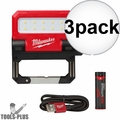 Milwaukee 2114-21 USB Rechargable ROVER Pivoting Flood Light 3x