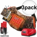 Milwaukee 2321-21 M12 Realtree Camo Heated Hand Warmer w/Batt+Charger 3x