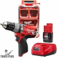 Milwaukee 2404-21P M12 FUEL Hammer Drill Kit Free PACKOUT Case