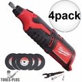 Milwaukee 2460-20 12 Volt M12 Cordless Rotary Tool (Tool Only) 4x