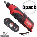 Milwaukee 2460-20 12 Volt M12 Cordless Rotary Tool (Tool Only) 8x