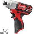 """Milwaukee 2462-80 M12 1/4"""" Hex Impact Driver (Tool Only)"""