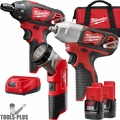 Milwaukee 2491-23 M12 Cordless Lithium-Ion 3-Tool Combo Kit