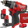 "Milwaukee 2503-22 M12 FUEL 1/2"" Drill Driver w/ 2ah,4ah Batts+Charger"