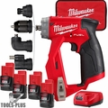 Milwaukee 2505-22 M12 FUEL Installation Drill/Driver Kit with 4 Batteries