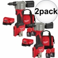 Milwaukee 2550-22 M12 Pop Rivet Tool 1.5AH Kit 2x  2 Battery Kit