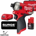 "Milwaukee 2551-22 M12 FUEL SURGE 1/4"" Hex Hydraulic Impact Driver 2.0Ah Kit"