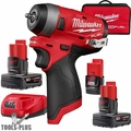 "Milwaukee 2552-22 M12 FUEL 1/4"" Stubby Impact Wrench Kit + 6.0 Ah Battery"