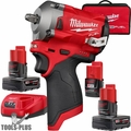 "Milwaukee 2554-22 M12 FUEL 3/8"" Stubby Impact Wrench Kit + 6.0 Ah Battery"