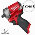 """Milwaukee 2555-20 M12 FUEL Stubby Cordless 1/2"""" Impact Wrench (Tool Only) 12x"""