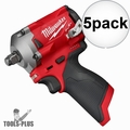 """Milwaukee 2555-20 M12 FUEL Stubby Cordless 1/2"""" Impact Wrench (Tool Only) 5x"""