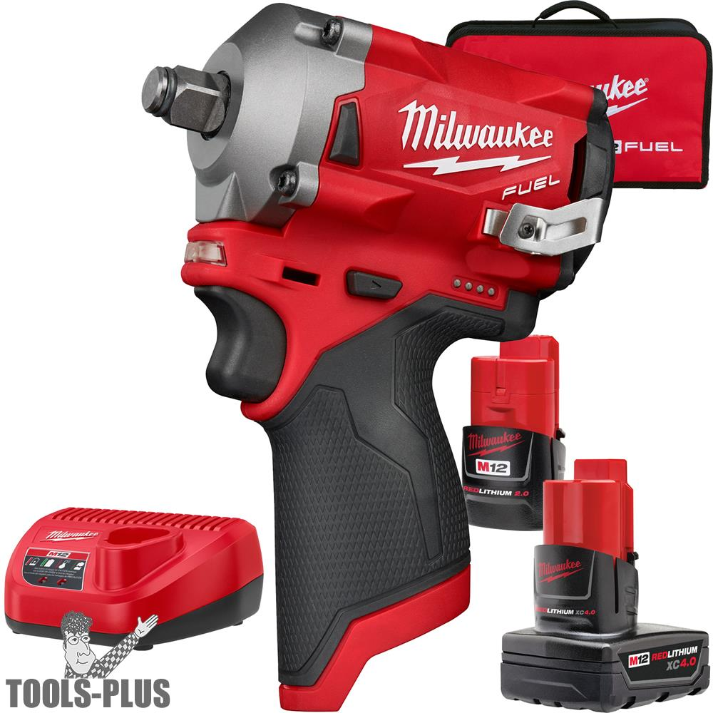 "Milwaukee 2555-22 M12 FUEL Stubby Cordless 1/2"" Impact Wrench (Tool Only)"