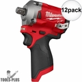 """Milwaukee 2555P-20 M12 FUEL Stubby 1/2"""" Pin Detent Impact (Tool Only) 12x"""