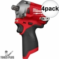"""Milwaukee 2555P-20 M12 FUEL Stubby 1/2"""" Pin Detent Impact (Tool Only) 4x"""