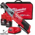 "Milwaukee 2557-22 M12 Fuel 12V Li-Ion Cordless 3/8"" Ratchet 2 Battery Kit"