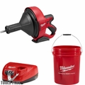 "Milwaukee 2571-21 M12 Drain Snake Cleaning Machine Kit w/ 5/16""X25' Cable"